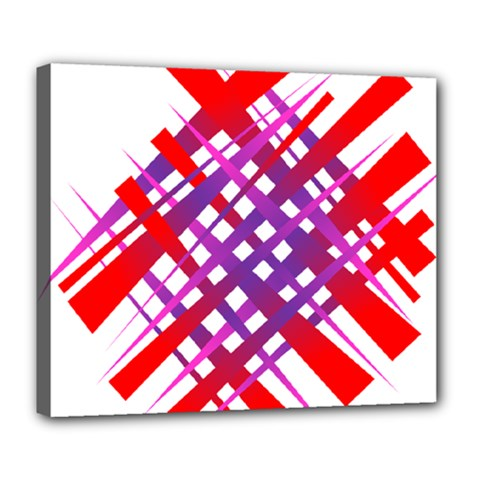 Chaos Bright Gradient Red Blue Deluxe Canvas 24  x 20