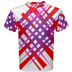 Chaos Bright Gradient Red Blue Men s Cotton Tee