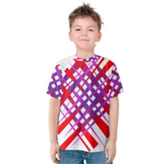 Chaos Bright Gradient Red Blue Kids  Cotton Tee