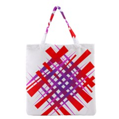 Chaos Bright Gradient Red Blue Grocery Tote Bag