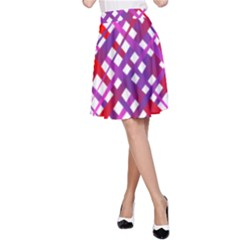 Chaos Bright Gradient Red Blue A Line Skirt