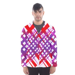 Chaos Bright Gradient Red Blue Hooded Wind Breaker (Men)
