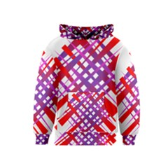 Chaos Bright Gradient Red Blue Kids  Pullover Hoodie