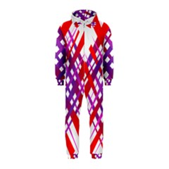 Chaos Bright Gradient Red Blue Hooded Jumpsuit (Kids)
