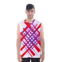 Chaos Bright Gradient Red Blue Men s Basketball Tank Top