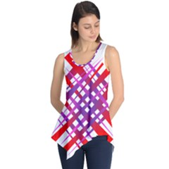 Chaos Bright Gradient Red Blue Sleeveless Tunic