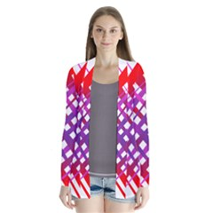 Chaos Bright Gradient Red Blue Cardigans