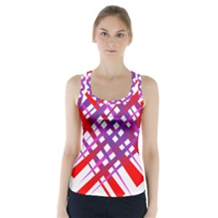 Chaos Bright Gradient Red Blue Racer Back Sports Top