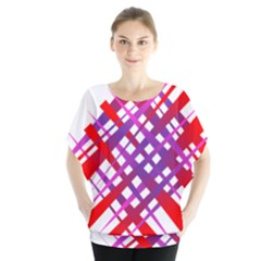 Chaos Bright Gradient Red Blue Blouse