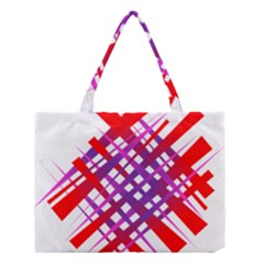 Chaos Bright Gradient Red Blue Medium Tote Bag