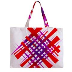 Chaos Bright Gradient Red Blue Medium Zipper Tote Bag