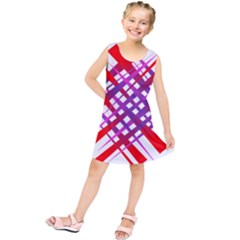 Chaos Bright Gradient Red Blue Kids  Tunic Dress