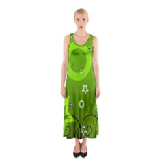 Art About Ball Abstract Colorful Sleeveless Maxi Dress