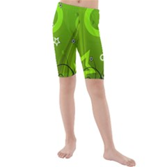 Art About Ball Abstract Colorful Kids  Mid Length Swim Shorts