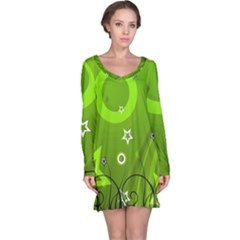 Art About Ball Abstract Colorful Long Sleeve Nightdress