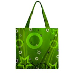 Art About Ball Abstract Colorful Zipper Grocery Tote Bag