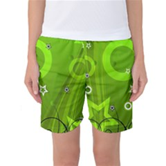 Art About Ball Abstract Colorful Women s Basketball Shorts