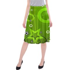 Art About Ball Abstract Colorful Midi Beach Skirt