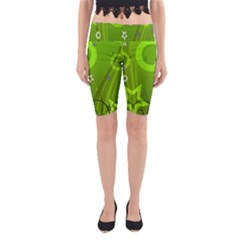 Art About Ball Abstract Colorful Yoga Cropped Leggings