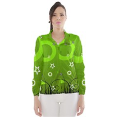 Art About Ball Abstract Colorful Wind Breaker (Women)