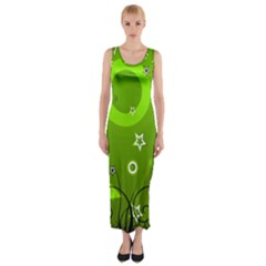 Art About Ball Abstract Colorful Fitted Maxi Dress