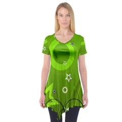 Art About Ball Abstract Colorful Short Sleeve Tunic