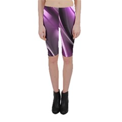 Fractal Mathematics Abstract Cropped Leggings