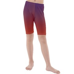 Course Colorful Pattern Abstract Kids  Mid Length Swim Shorts