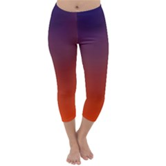 Course Colorful Pattern Abstract Capri Winter Leggings