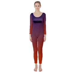 Course Colorful Pattern Abstract Long Sleeve Catsuit