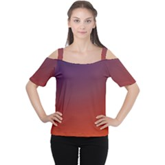 Course Colorful Pattern Abstract Women s Cutout Shoulder Tee