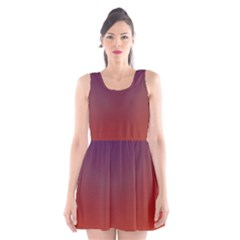 Course Colorful Pattern Abstract Scoop Neck Skater Dress