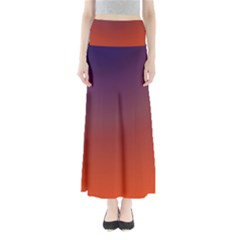 Course Colorful Pattern Abstract Maxi Skirts