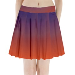 Course Colorful Pattern Abstract Pleated Mini Skirt