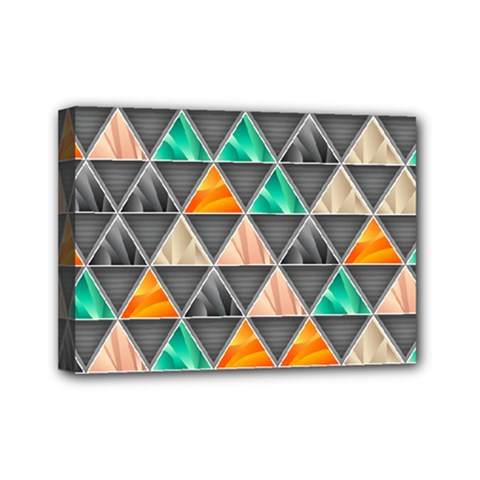 Abstract Geometric Triangle Shape Mini Canvas 7  X 5