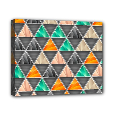 Abstract Geometric Triangle Shape Canvas 10  x 8