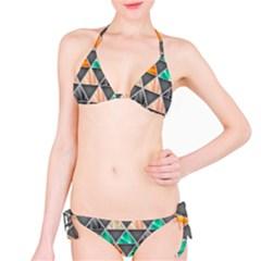 Abstract Geometric Triangle Shape Bikini Set