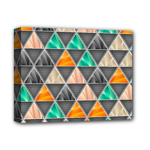 Abstract Geometric Triangle Shape Deluxe Canvas 14  x 11