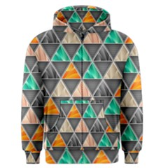 Abstract Geometric Triangle Shape Men s Zipper Hoodie