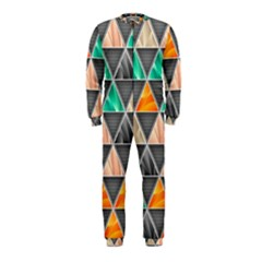 Abstract Geometric Triangle Shape OnePiece Jumpsuit (Kids)