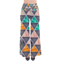 Abstract Geometric Triangle Shape Pants