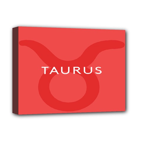 Zodizc Taurus Red Deluxe Canvas 16  x 12