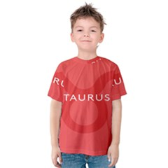 Zodizc Taurus Red Kids  Cotton Tee