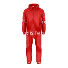 Zodizc Taurus Red Hooded Jumpsuit (Kids)