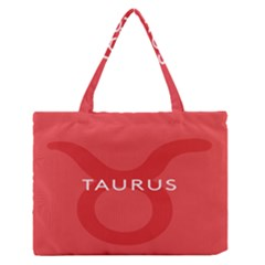 Zodizc Taurus Red Medium Zipper Tote Bag