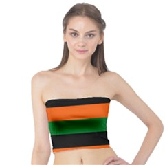 Color Green Orange Black Tube Top
