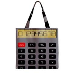 Calculator Zipper Grocery Tote Bag