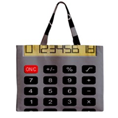 Calculator Zipper Mini Tote Bag