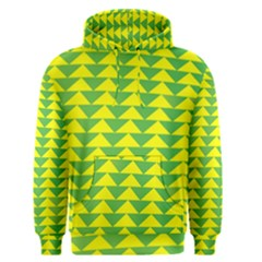 Arrow Triangle Green Yellow Men s Pullover Hoodie