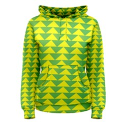Arrow Triangle Green Yellow Women s Pullover Hoodie